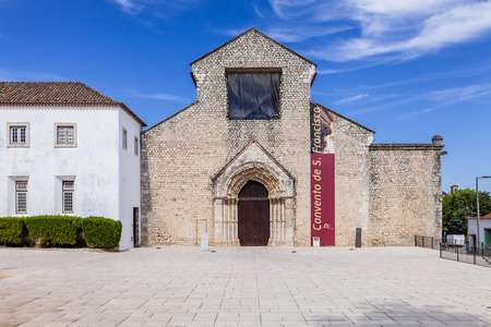 13th century: Sao Francisco Convent in the city of Santarem, Portugal. 13th century Mendicant Gothic Architecture. Franciscan Religious Order.