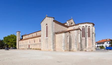 ribatejo: Santa Clara Church in the city of Santarem, Portugal. 13th century Mendicant Gothic Architecture.