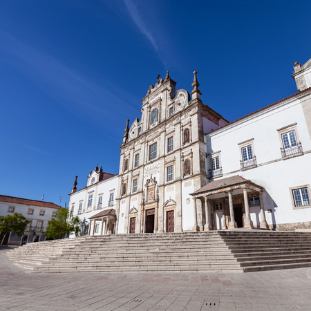 senhora: Santarem See Cathedral aka Nossa Senhora da Conceicao Church built in the 17th century Mannerist style. Portugal