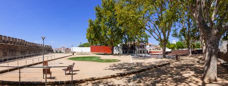ribatejo: The Portas do Sol Garden and Belvedere in Santarem, Portugal, built inside the medieval castle walls during summer.