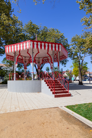 19th: 19th century Bandstand in the Republica Garden, Santarem, Portugal. Stock Photo