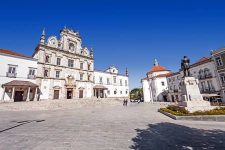 17th century: Sa da Bandeira Square with a view of the Santarem See Cathedral aka Nossa Senhora da Conceicao Church, built in the 17th century Mannerist style. Portugal