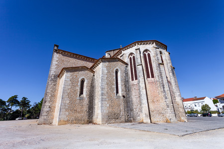 13th century: Apse exterior of the Santa Clara Church in the city of Santarem, Portugal. 13th century Mendicant Gothic Architecture.