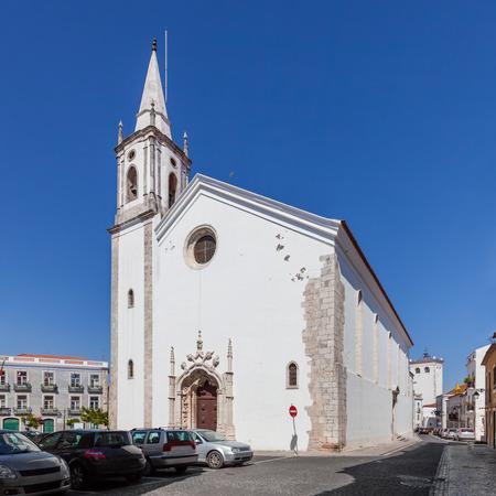 ribatejo: Nossa Senhora de Marvila Church. 16th century Renaissance and Manueline architecture. Santarem, Portugal.