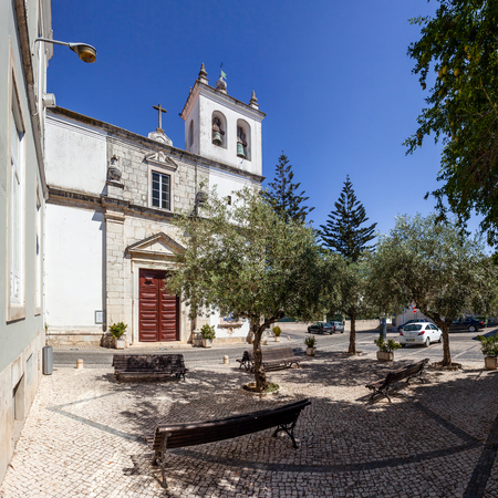 ribatejo: Santarem, Portugal. September 11, 2015:  Santo Estevao Church also known as Santissimo Milagre Sanctuary. Renaissance architecture.