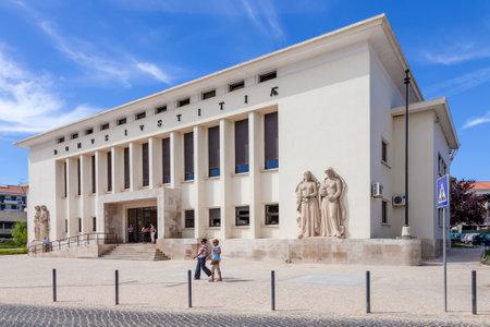 law of portugal: Santarem, Portugal. September 11, 2015:  Palacio da Justica (Palace of Justice), the Tribunal of the city of Santarem.