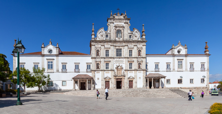 17th century: Santarem, Portugal. September 9, 2015: Santarem See Cathedral aka Nossa Senhora da Conceicao Church built in the 17th century Mannerist style.