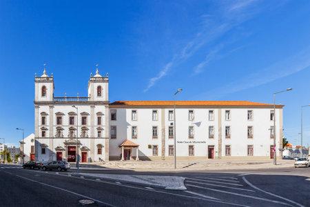 mannerism: Santarem, Portugal. September 11, 2015: Hospital de Jesus Cristo Church. 17th century Portuguese Mannerist architecture, called Chao.