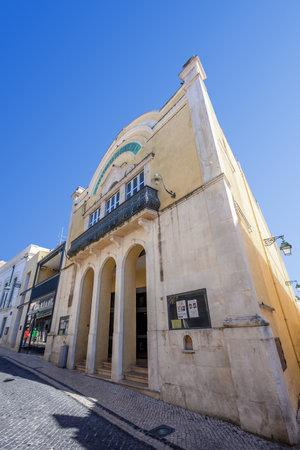 ribatejo: Santarem, Portugal. September 11, 2015:  The historical Sa da Bandeira Theatre. Editorial