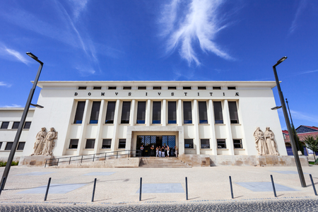 tribunal: Santarem, Portugal. September 11, 2015:  Palacio da Justica (Palace of Justice), the Tribunal of the city of Santarem.