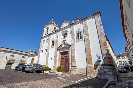 mannerism: Santarem, Portugal. September 11, 2015:  Sao Nicolau Church. Mannerist and Baroque.