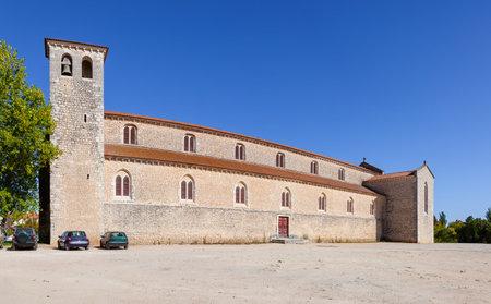 ribatejo: Santarem, Portugal. September 9, 2015: Santa Clara Church. 13th century Mendicant Gothic Architecture. Editorial