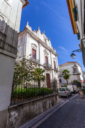 mannerism: Santarem, Portugal. September 11, 2015: Misericordia church. 16th century Hall-Church in late Renaissance Architecture with a baroque facade. Editorial