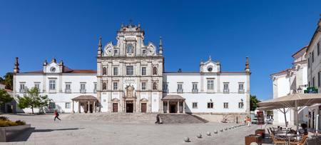 senhora: Santarem, Portugal. September 9, 2015: Santarem See Cathedral aka Nossa Senhora da Conceicao Church built in the 17th century Mannerist style.