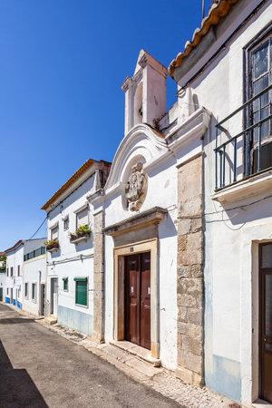 mannerism: Santarem, Portugal. September 11, 2015:  Ermida da Memoria (Memory Hermitage). 17th century chapel.