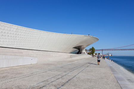 amanda: Lisbon, Portugal - October 31, 2016: MAAT - Museum of Art, Architecture and Technology. Open since October 5th. Designed by the British architect Amanda Levete