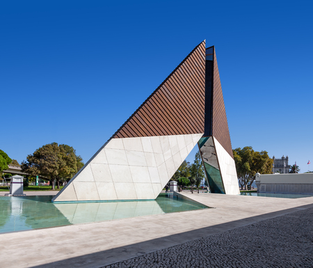 Lisbon, Portugal. October 31, 2016: Monumento aos Combatentes do Ultramar. Monument built to remember the Portuguese military fallen in the African Colonial War (1961-1974)