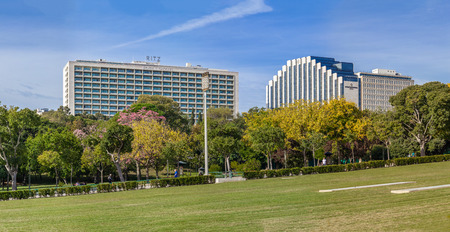 intercontinental: Lisbon, Portugal - October 19, 2016: The Four Seasons Ritz (left) and the Intercontinental (right) Hotels. Tow five star hotels located next to the famous Eduardo VII Park. Editorial