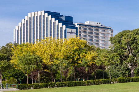 intercontinental: Lisbon, Portugal - October 19, 2016: The Lisbon Intercontinental Hotel. A five star hotel located next to the famous Eduardo VII Park.