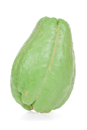 Chayote isolated on white background
