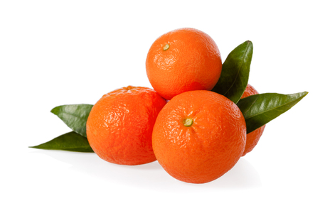 Clementines isolated on white background