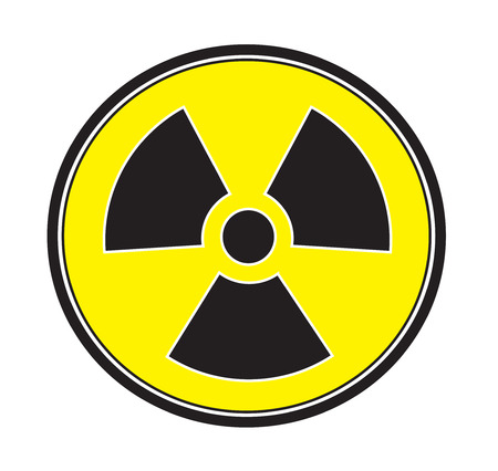 Radiation sign icon vector isolated white background.