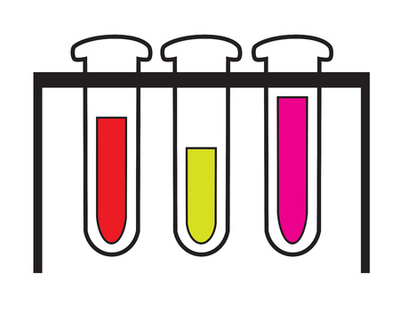 medical exam: Test tubes icon vector isolated white background. Illustration