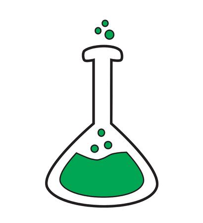erlenmeyer: Volumetric flask icon vector isolated white background. Illustration