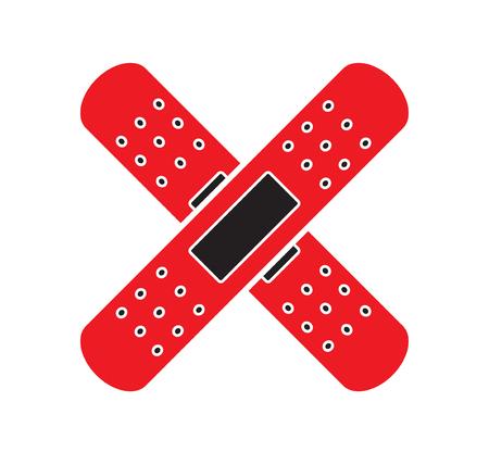 Medical bandages icon vector isolated white background. Medical icons. Illustration