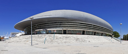 Lisbon, Portugal - August 02, 2013: Altice Arena aka Meo or Pavilhao Atlantico Pavilion. The largest venue of Lisbon in Parque das Nacoes aka Park of Nations