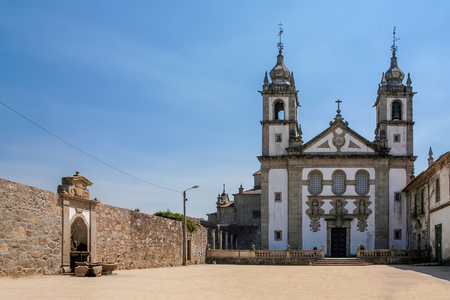 Santo Andre de Rendufe Monastery. 18th century baroque. Amares, Portugal Stock Photo