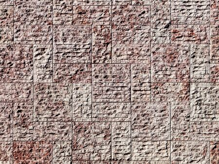 New stone wall background with rough irregular texture bricks or tiles Editoriali