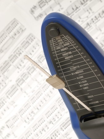 Metronome with Chopins prelude in the background photo