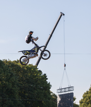Heelclicker Freestyle Motocross Stunt at Red Bull X-Fights Munich Stock Photo