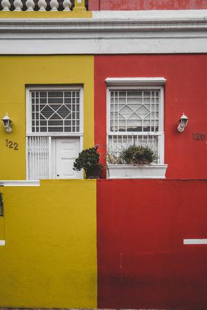Colorful House in Capetowns Bo Kaap quarter Banco de Imagens