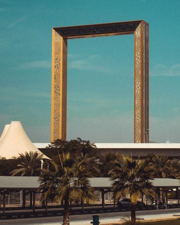 Iconig Building The Frame in Dubai, United Arab Emirates Editorial