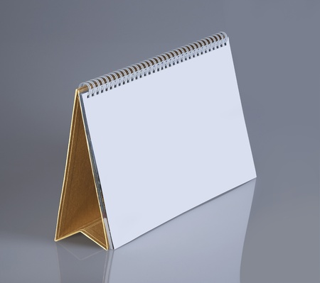Plain desk calendar with stand Stock Photo