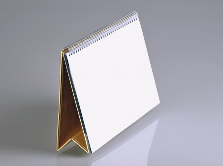 Plain desk calendar for design layout