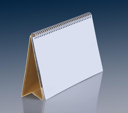 desk calendar: Plain desk calendar with gold stand