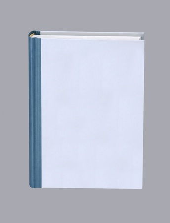 Plain book isolated on gray