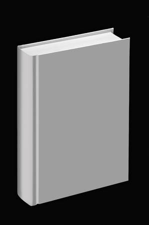 White book standing with black background