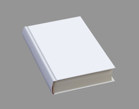 book: White plain book on gray background