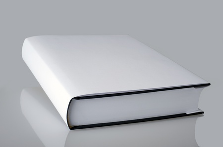 plain white book with hard cover