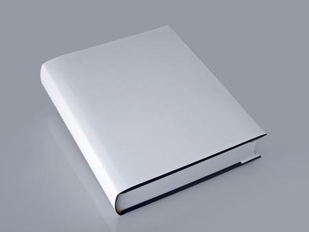 livre blanc avec couverture cartonnée Banque d'images - 9219478