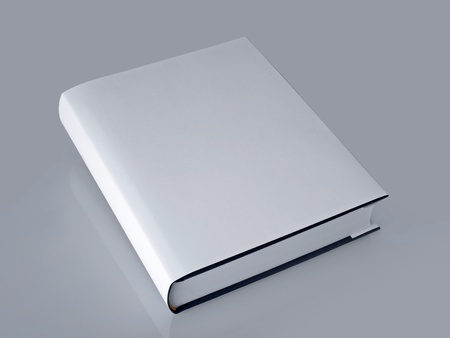 white book with hard cover