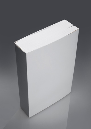 hard cover: White plain book with hard cover Stock Photo