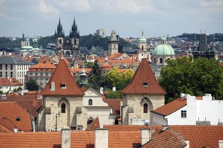 Vue de la partie historique de Prague Banque d'images - 9374505