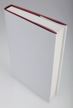 layout: Plain white hardcover book for design layout