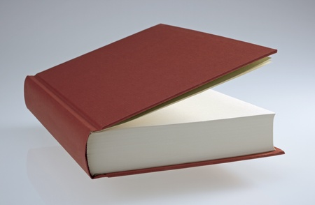 Red book with hard cover, plain, for design layout