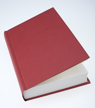 Red book partially open
